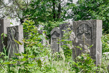 Grave Slabs At The Old Jewish ...