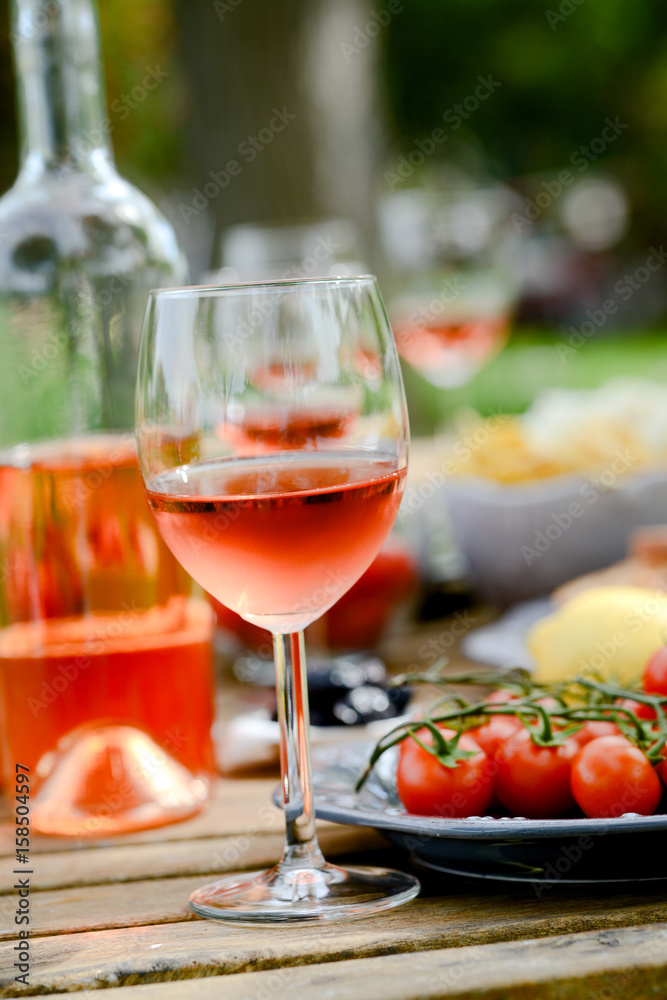 Photo Art Print Holiday Summer Brunch Party Table Outdoor In A House Backyard With Etizer Gl Europosters