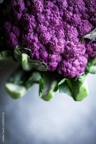 Whole, purple cauliflower, cropped Plakat