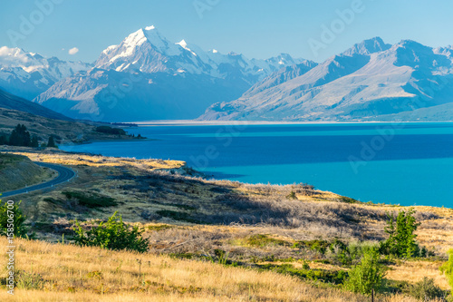 Staande foto Nieuw Zeeland Mount Cook, the highest New Zealand mountain
