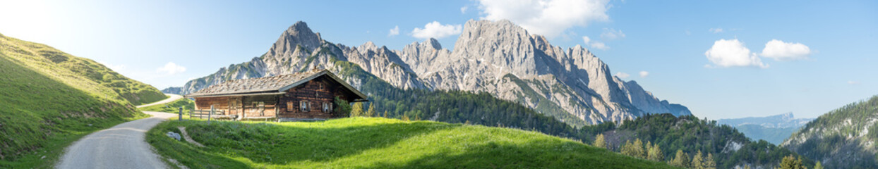 Panoramic view in the Austrian mountains