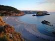 Praia a Mare - Panorama della spiaggia dello Scorzone al tramonto