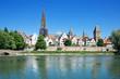 Ulm an der Donau Ansicht von der bayerischen Donauseite