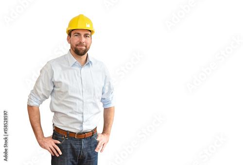 Ingenieur - Freisteller isoliert vor weißer Hintergrund // Engineer - isolated white background