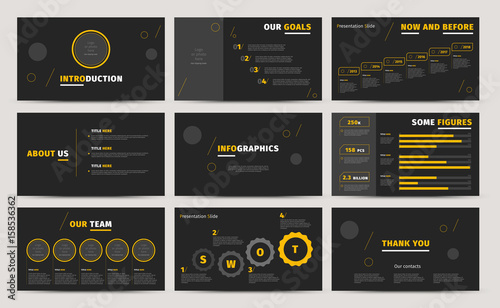 corporate presentation slides design creative business proposal or annual report full hd vector keynote