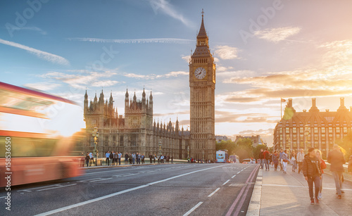 Fotografia Westminster Bridge at sunny day