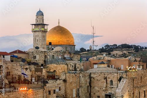 Plakat Jerusalem Old City - Wzgórze Świątynne