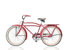 Retro Vintage Red Bicycle Isol...