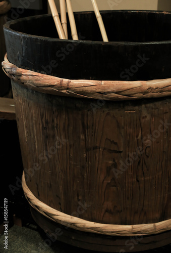 Fotografie, Obraz  酒造の樽
