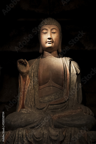 Stone Buddha and relics from Zhongshan Grottoes Xian, China
