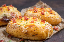 Baked Stuffed Potatoes With Ch...