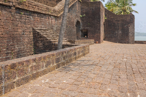 Papiers peints Fortification View inside the walls of Fort Reis Magos on the west coast of India