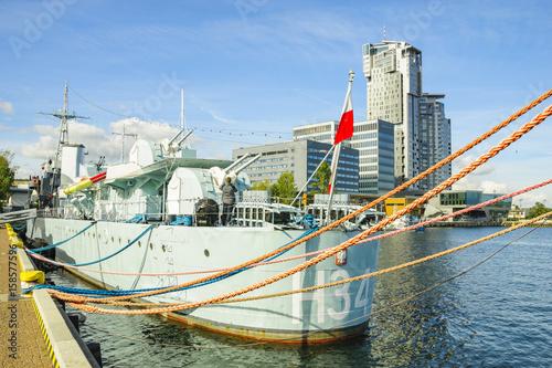 Obrazy na płótnie Canvas Ships in the Gdynia marina,Poland