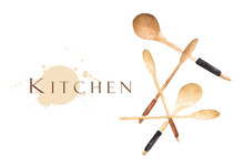 Wooden Spoons With Place For T...