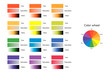 vector illustration of color circle, hue, saturation, value, infographics
