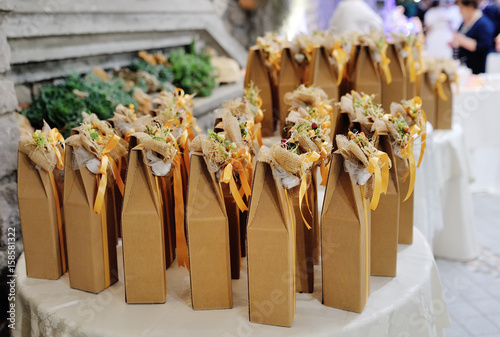 Wedding Favors Gift For Guest Buy This Stock Photo And Explore