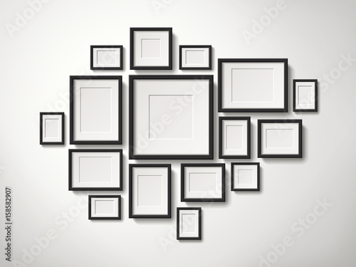 fototapeta na szkło picture frames collection