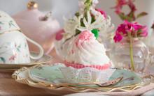 High Tea Cupcake With Pink Ici...