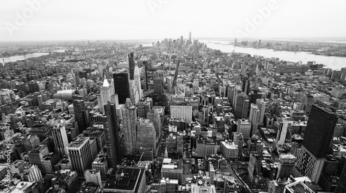 New York city downtown, Black and White