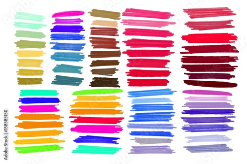 Finding Some Spots Of Bright Color At >> Vector Marker Stroke Spots Bright Color Buy This Stock Vector And