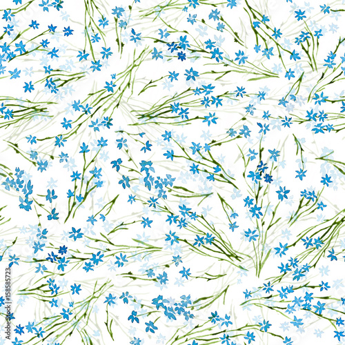 Calico Watercolor Pattern Cute Seamless Cute Small Flowers For
