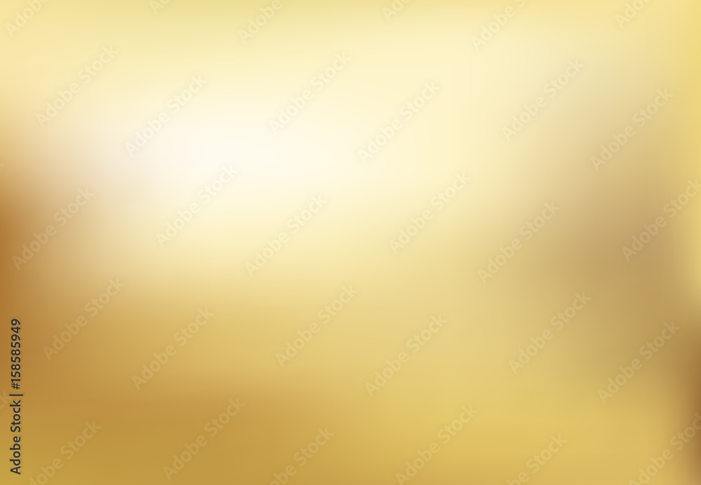 Fototapeta Vector gold blurred gradient style background. Abstract smooth illustration
