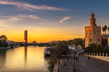 Golden Tower In Seville And Mo...