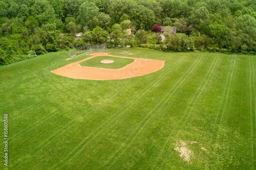 baseball fields aerial view pano