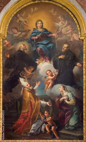 Valokuva  TURIN, ITALY - MARCH 14, 2017: The painting of Vergine tra i ss