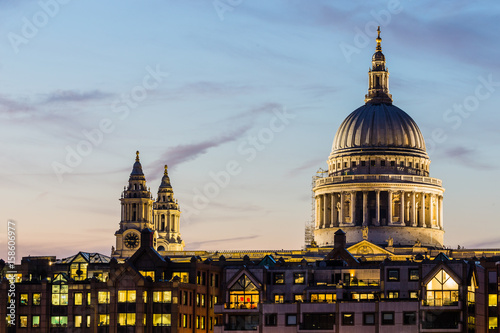 St Paul's cathedral at sunset Canvas Print