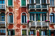 Typical Venice Delapidated Building
