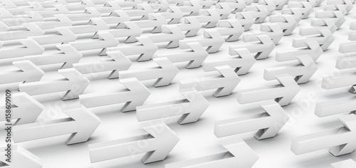 Slika na platnu Alle in die gleiche Richtung, Langweile ohne Innovation