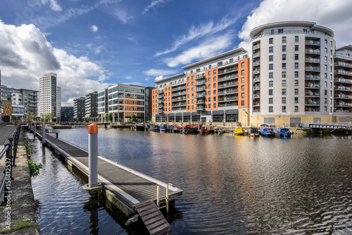Leeds Dock Formerly Clarence Dock in central Leeds Canvas Print