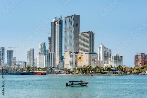 Staande foto Sydney Skyline of the city Cartagena, Colombia