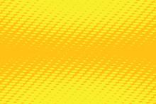 Yellow Pop Art Background
