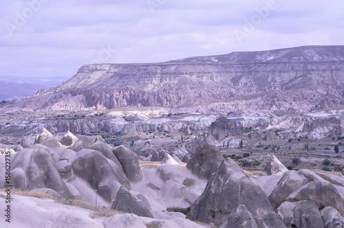Fotobehang Purper wonderful landscape of Cappadocia in Turkey
