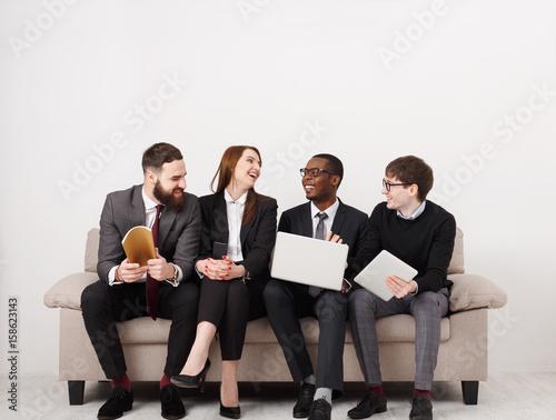 Fotografía  Happy team, business people laugh