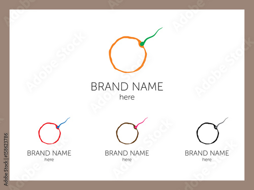 Sperm to company logo Canvas-taulu