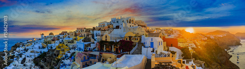 Foto op Aluminium Santorini Amazing view with white houses in Oia village.