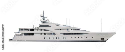 Super yacht isolated on white Fototapeta