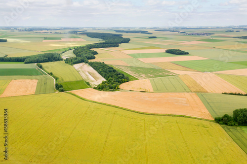 Aerial photograph area on agriculture and village Wallpaper Mural