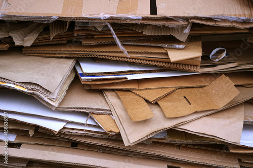Stacked Cardboard Recycling Boxes In A Pile Canvas