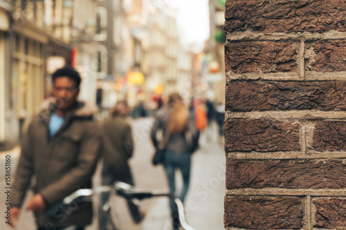 Photo Man on a blurry background in Amsterdam