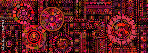 Abstract background similar to an ethnic carpet Canvas Print