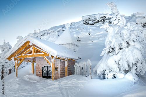 Photo Arberkapelle auf dem Grossen Arber im Winter