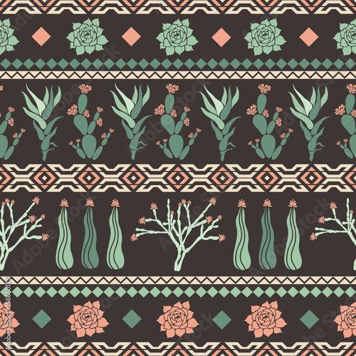 sempervivum-haworthia-opuntia-hatiora-bezszwowy-wzor-z-kaktusami-sukulentami-i-geometrycznymi-ksztaltami-w-postaci-rombu-trojboki-ilustracji-wektorowych