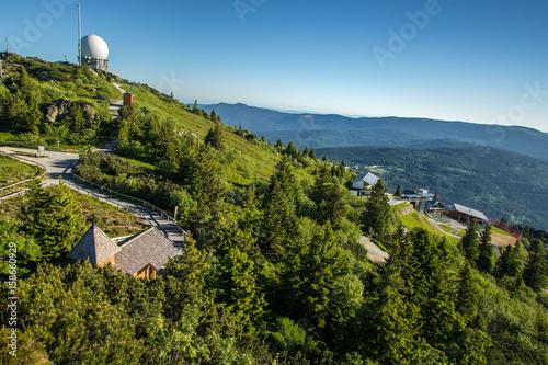 Gipfel des Grossen Arber im Bayerischen Wald Canvas Print