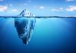 Leinwandbild Motiv Iceberg - Hidden Danger And Global Warming Concept