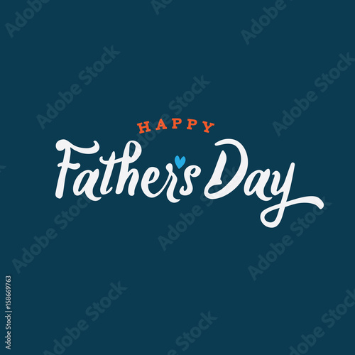 Happy Father's Day Vector Illustration Wall mural