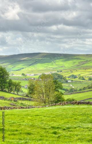 In de dag Lime groen Classic british landscape at the Peak district near Manchester..